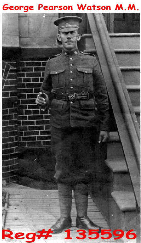 [George Pearson Watson M.M. in the uniform of the Lord Strathcon's Horse Royal Canadians]